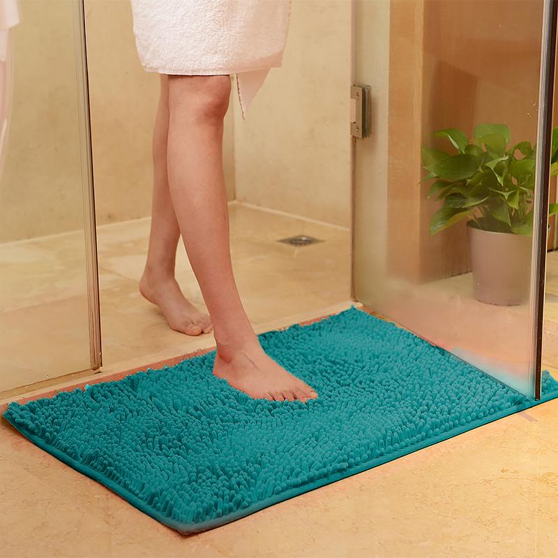 Chenille Bath Mat Rug Set 100 Microfiber Noodle Bathroom