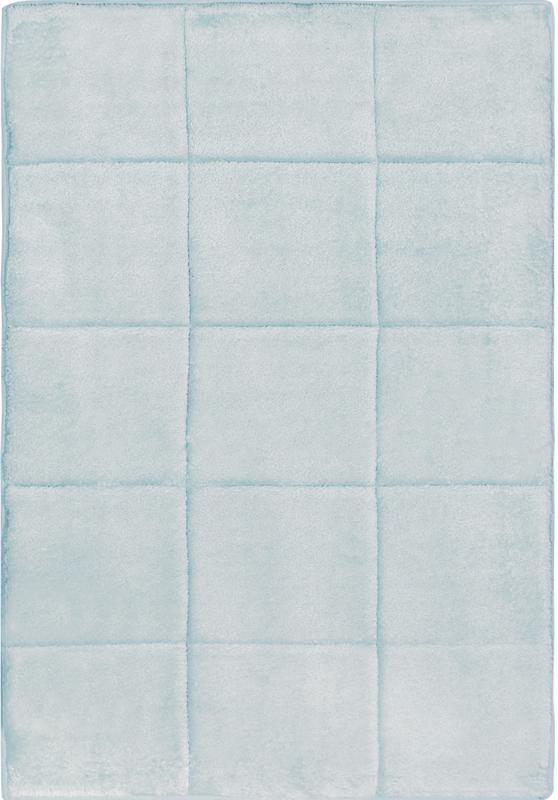 Contemporary Squares Memory Foam Bathroom Microfiber Bath