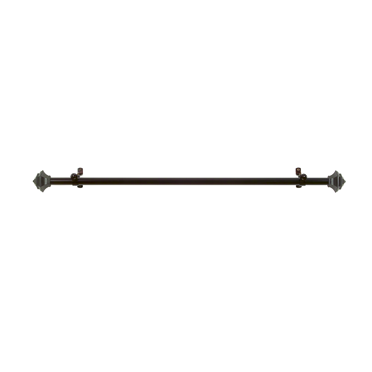 Curtain-Rod-Decorative-Telescopic-Cafe-Window-Drapery-Rods-Set-w-Modern-Finials thumbnail 5
