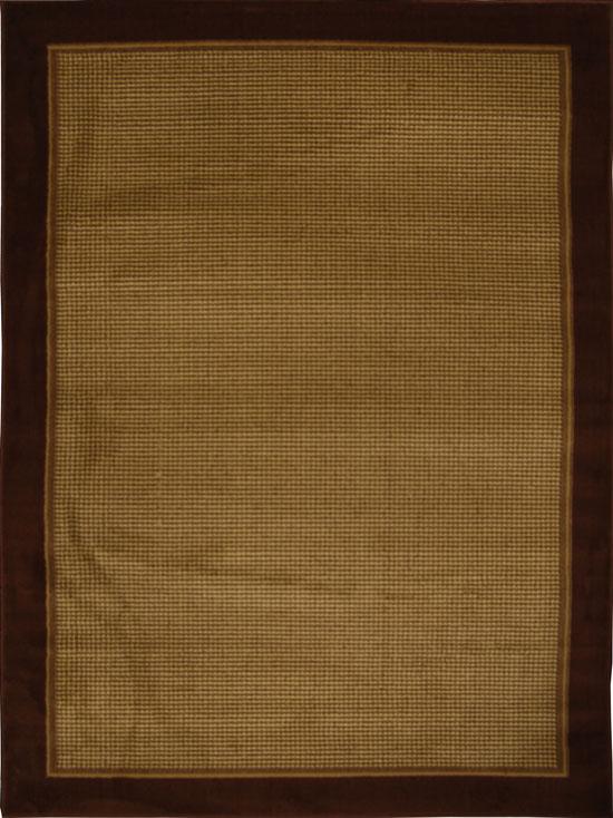 Brown Modern Border 8x11 Area Rug Contemporary Carpet