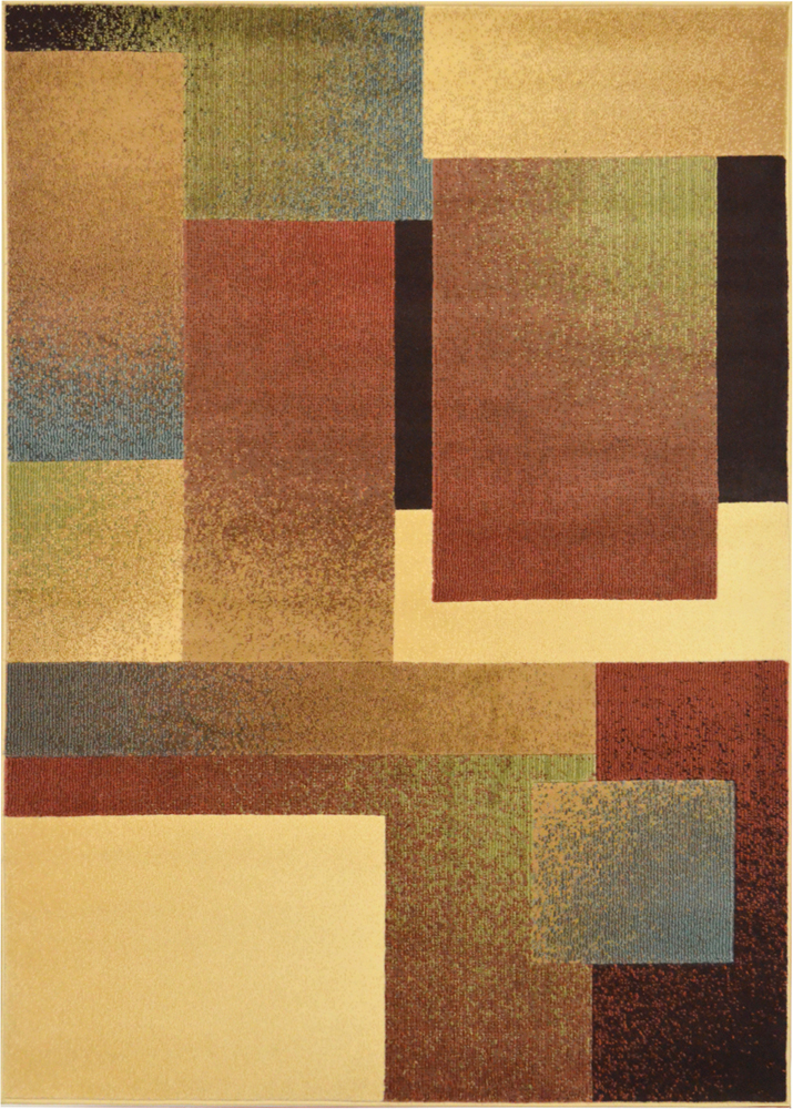 Contemporary Geometric Area Rug Modern Stripe Squares
