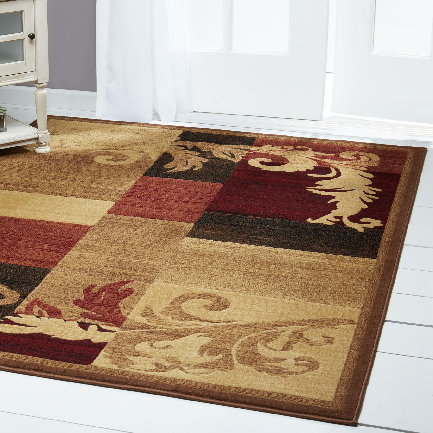 Modern Brown Red Burgundy 4x6 Area Rug Geometric Carpet Approx 3 3 X 5 2 643845201869 Ebay