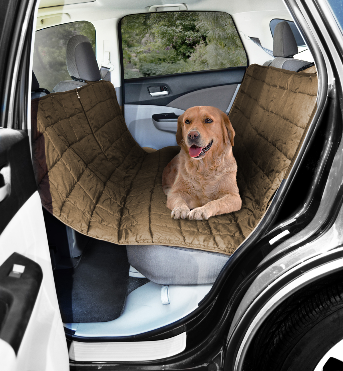 picture 2 of 2 beige car suv rear seat pet dog cat protector cover hammock      rh   ebay