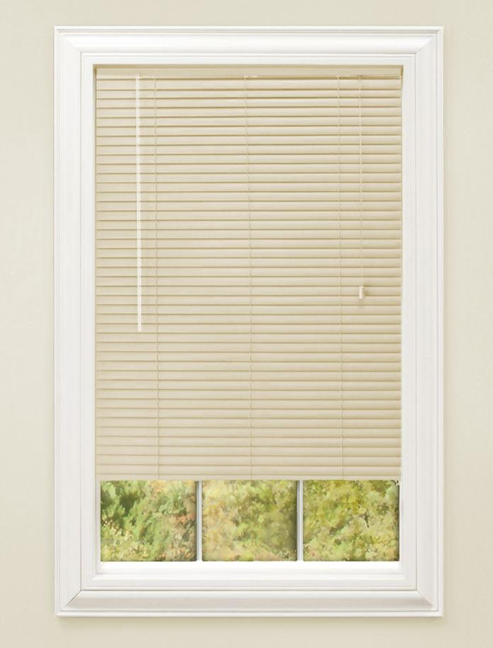 Details About Window Blinds Mini Blind 1 Slat Vinyl Venetian Blinds Black White Beige Gray