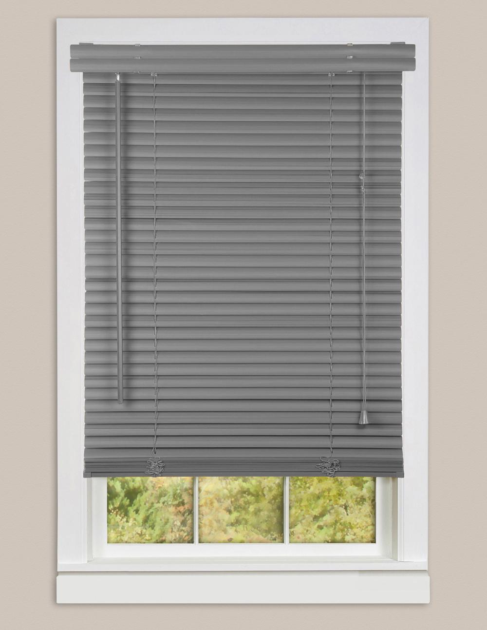 Window blinds mini blind 1 slat vinyl venetian blinds for Window blinds for homes