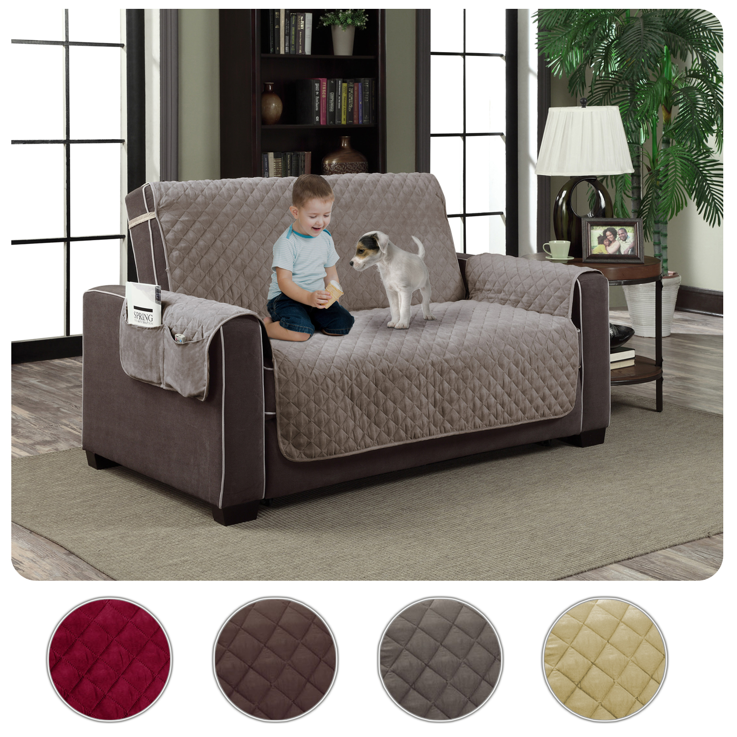 Marvelous Details About Slipcover Microfiber Reversible Pet Dog Couch Protector Cover Love Seat Gmtry Best Dining Table And Chair Ideas Images Gmtryco