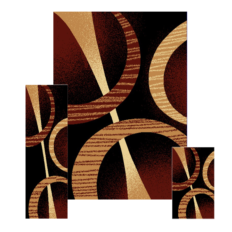 3-Pc-Set-Modern-Contemporary-Geometric-Area-Rug-Runner-Accent-Mat-Carpet thumbnail 9