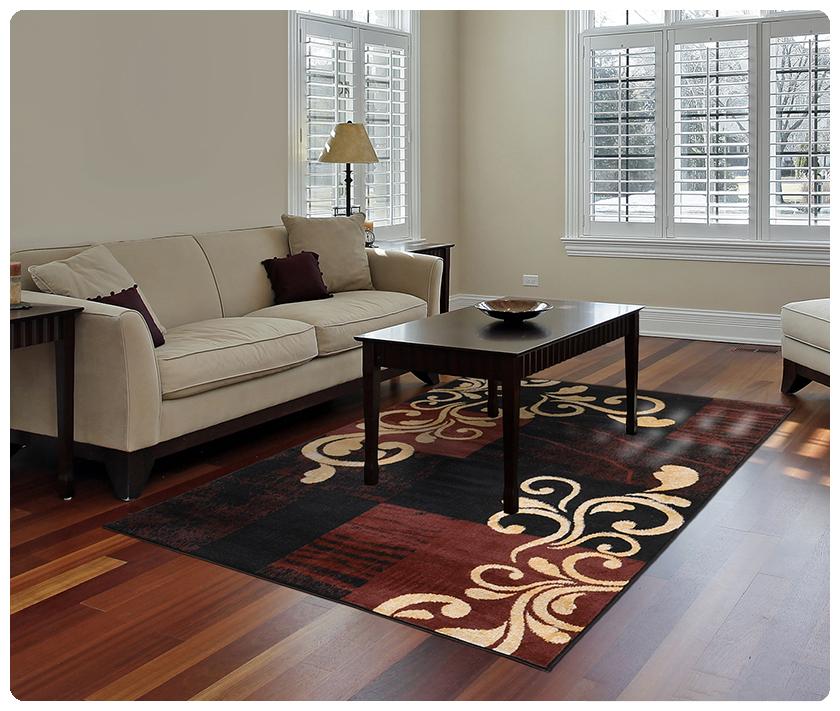 Modern Contemporary Geometric Area Rug Runner Accent Mat Carpet C Transitional Scrolls