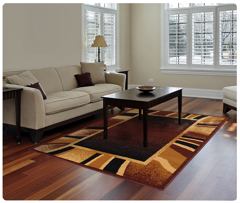 Modern Contemporary Geometric Area Rug Runner Accent Mat Carpet A Striped Border