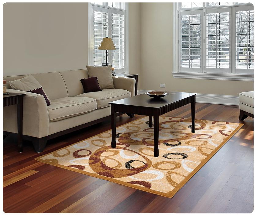 Modern Contemporary Geometric Area Rug Runner Accent Mat Carpet F Beige Confetti