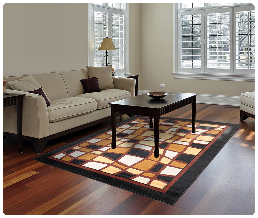 Modern Contemporary Geometric Area Rug Runner Accent Mat Carpet G Abstract Waves