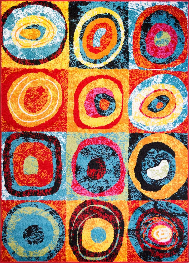 Modern Rug Contemporary Area Rugs Multi Geometric Swirls