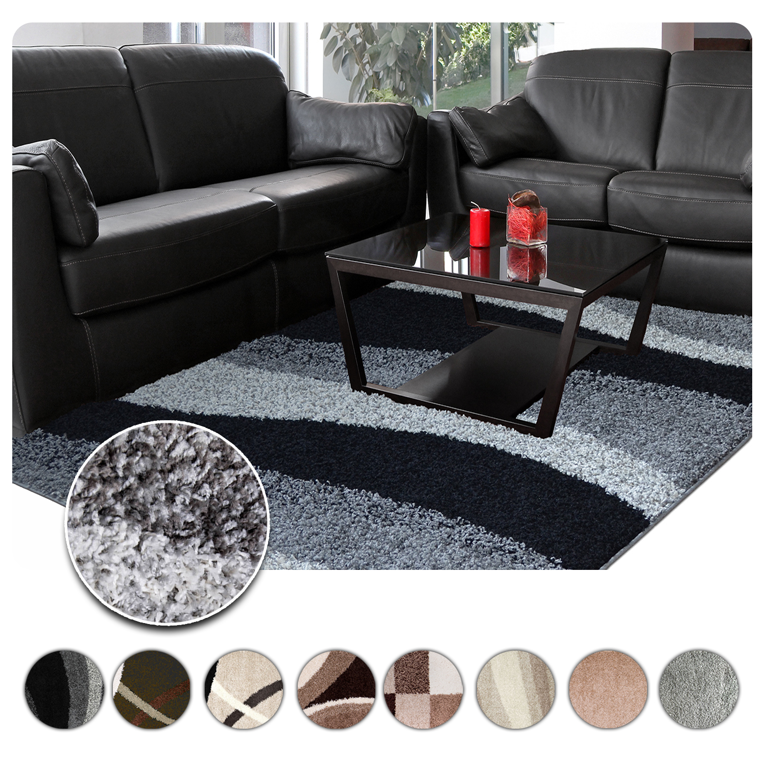 Details About Shag Rugs Modern Area Rug Contemporary Abstract Or Solid Shaggy Flokati Carpet