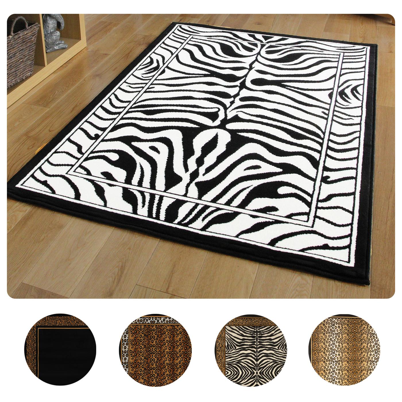 Modern Leopard Animal Print Area Rug 8x11 Zebra Safari
