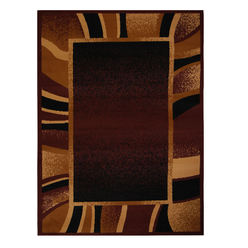 Modern Abstract 8x11 Area Rug Contemporary Border Carpet
