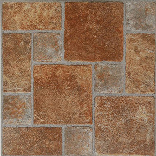 Paver stone vinyl floor tiles 20 pcs self adhesive for What size rug for 12x12 room