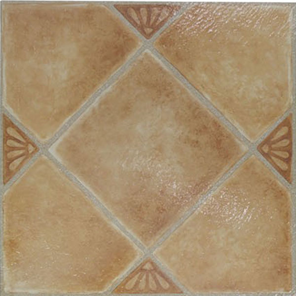 Beige Ceramic Vinyl Floor Tiles 20 Pcs Self Adhesive Flooring