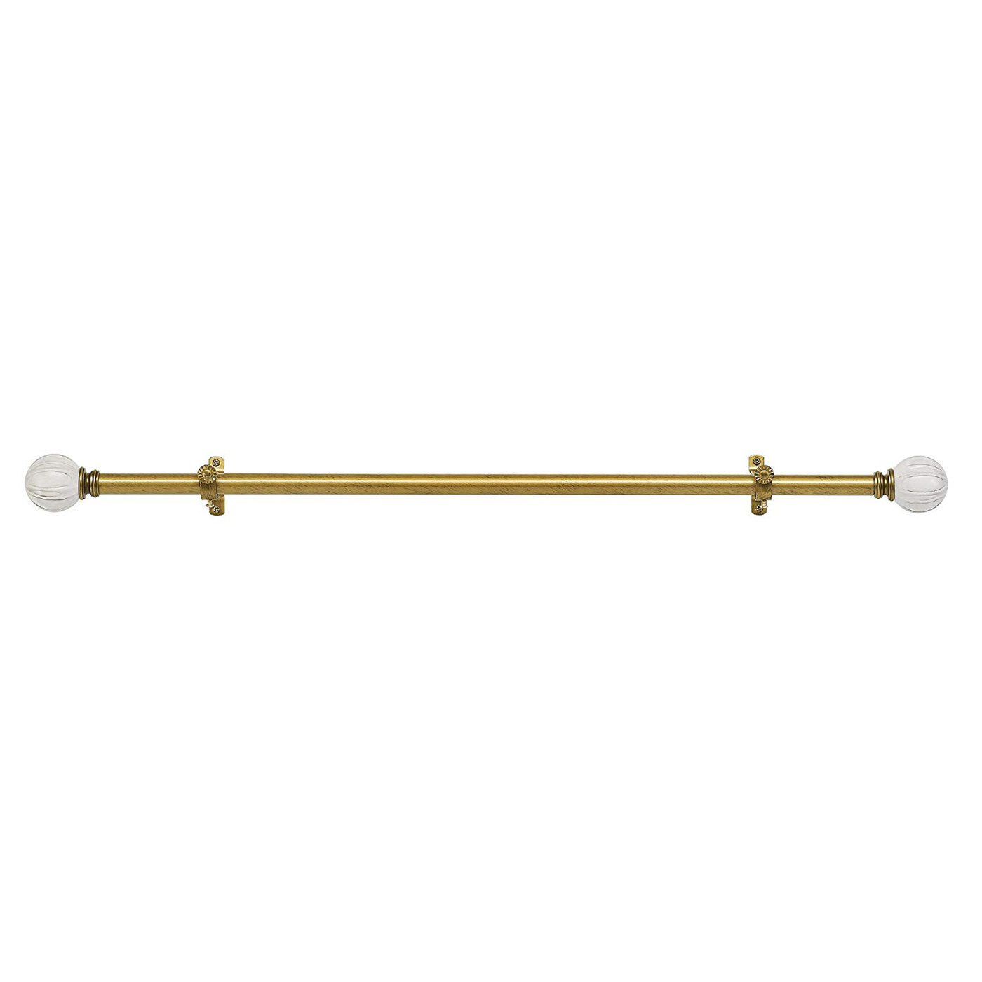 Curtain-Rod-Decorative-Telescopic-Cafe-Window-Drapery-Rods-Set-w-Modern-Finials thumbnail 41