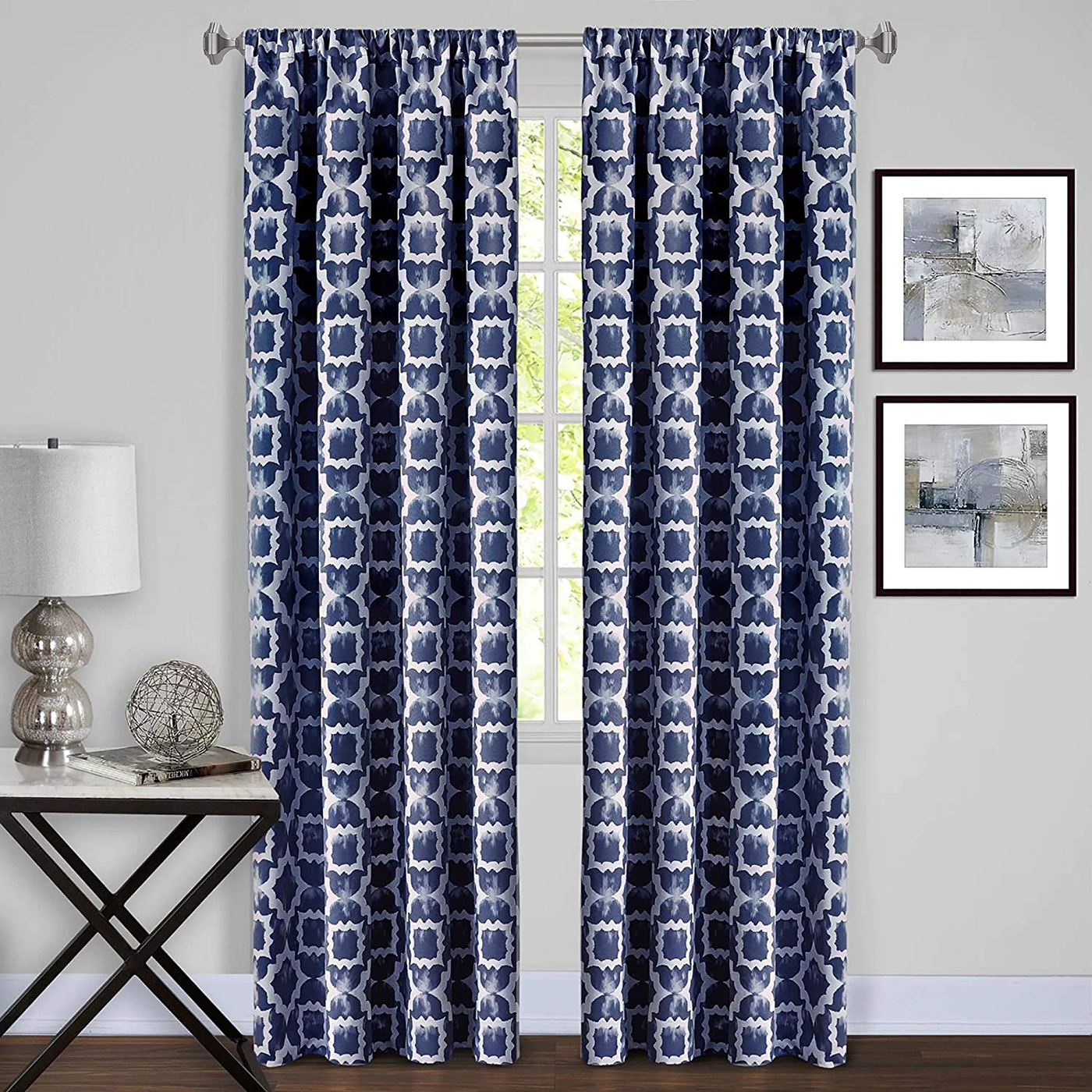 Curtain-Rod-Decorative-Telescopic-Cafe-Window-Drapery-Rods-Set-w-Modern-Finials thumbnail 13