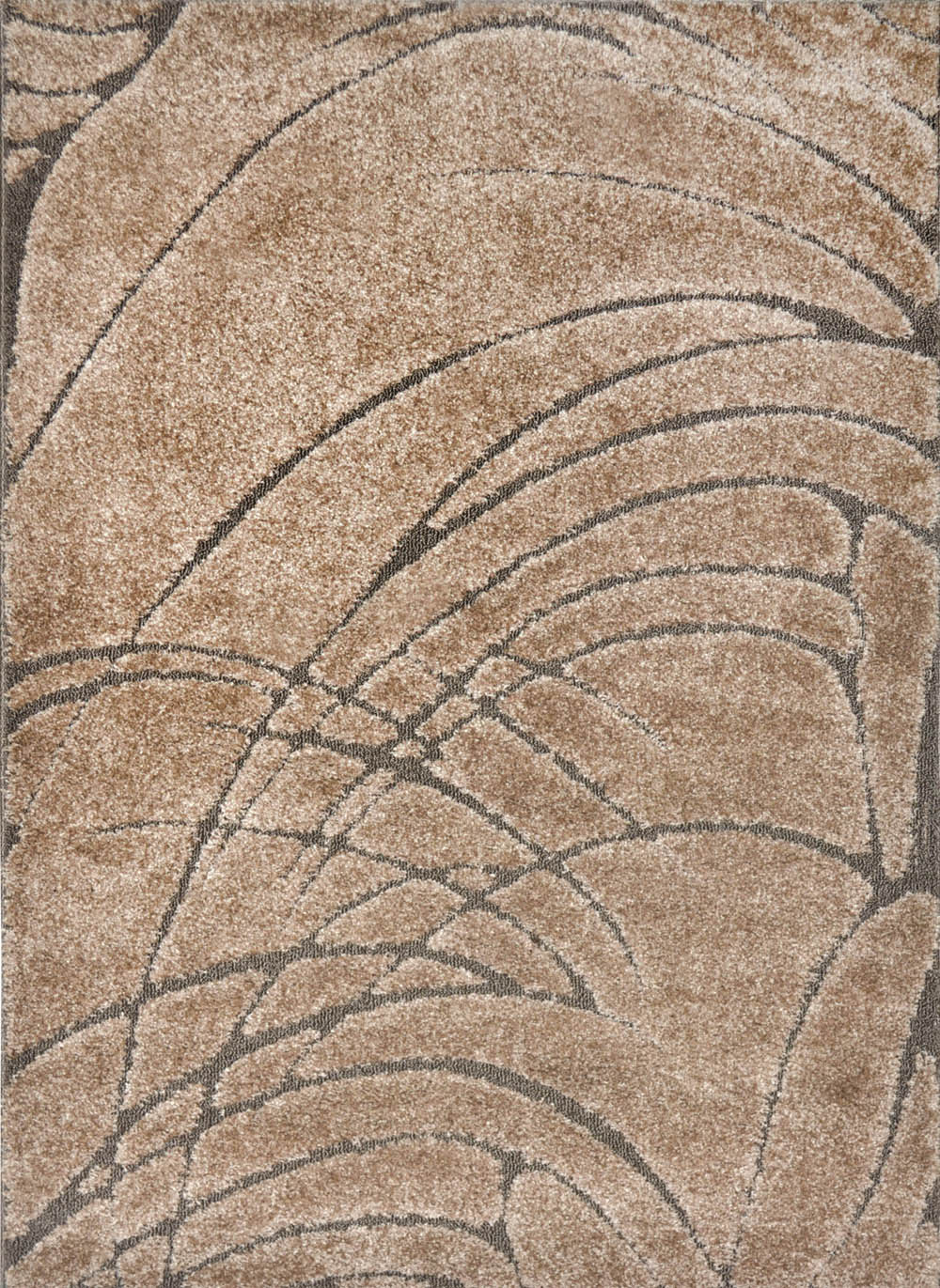 Modern Beige Cut Loop 3d Area Rug Contemporary Abstract