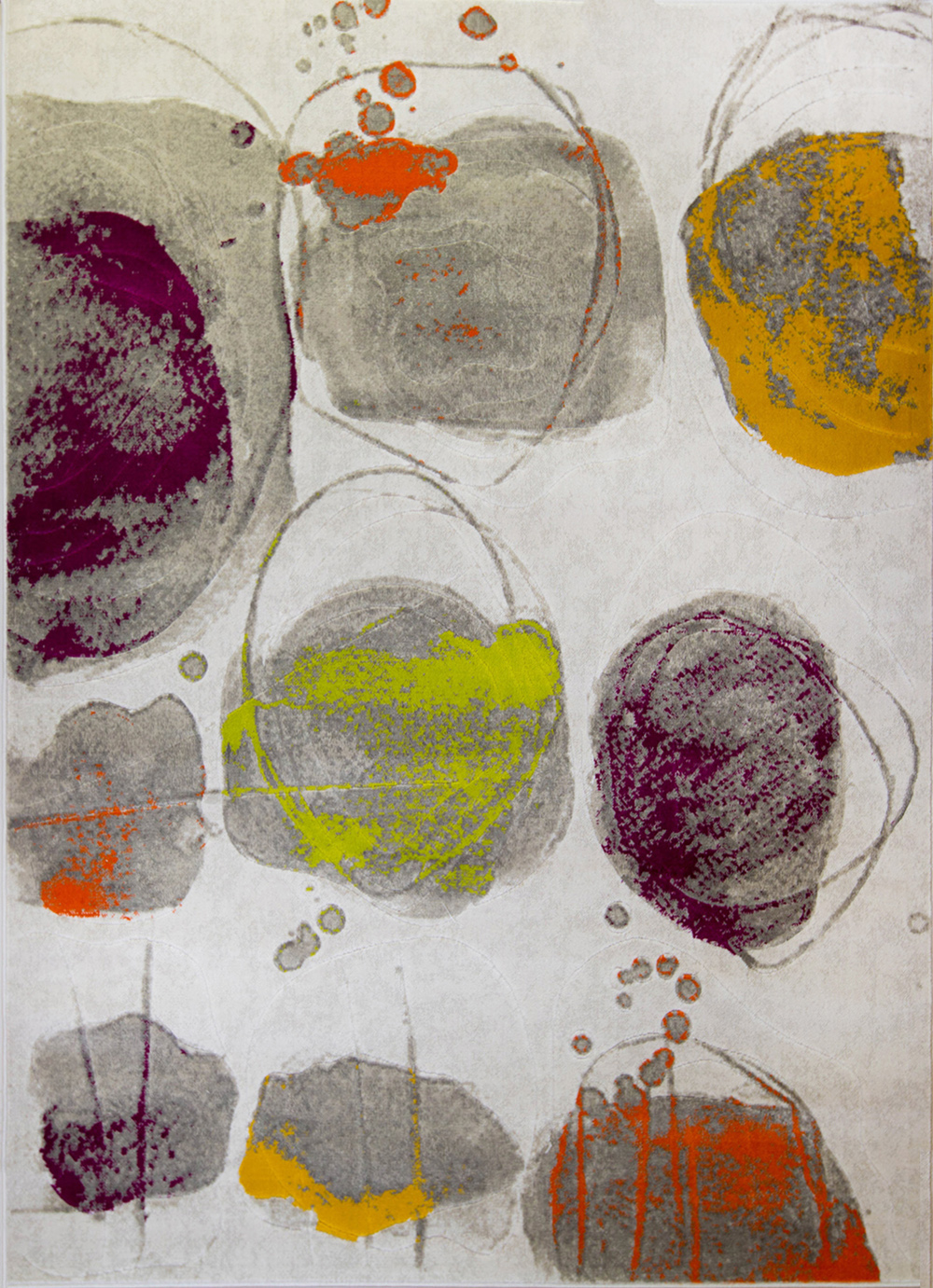 Rugs Multi Color Abstract Area Rug Modern Paint Palette