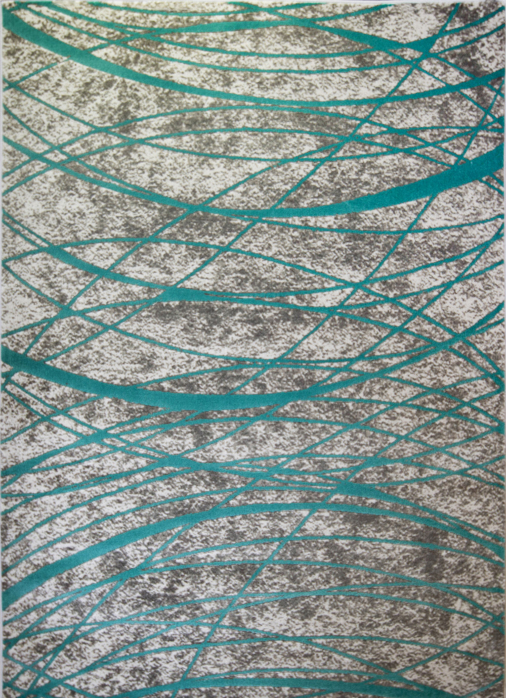 Rugs Ivory Blue Teal Abstract Area Rug Modern Lines Swirls