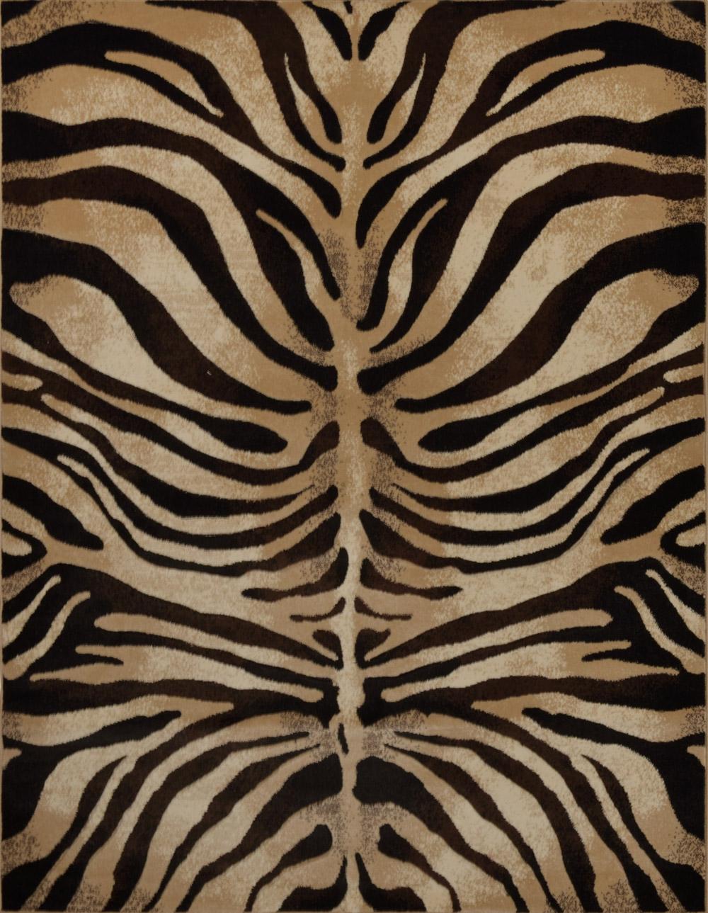 Modern Zebra Stripes Area Rug 3x5 Animal Skin Print Carpet