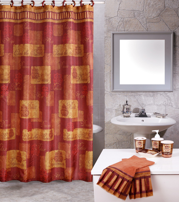 Contemporary 19 Piece Bathroom Accessories Shower Modern ...