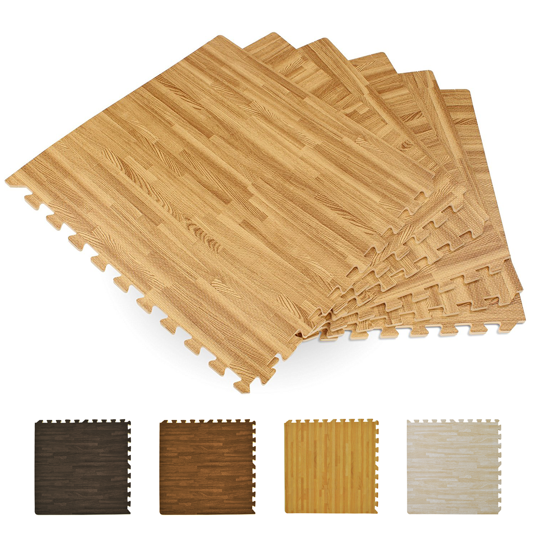 Printed Wood Grain Multi Interlocking Anti Fatigue Puzzle Floor Foam