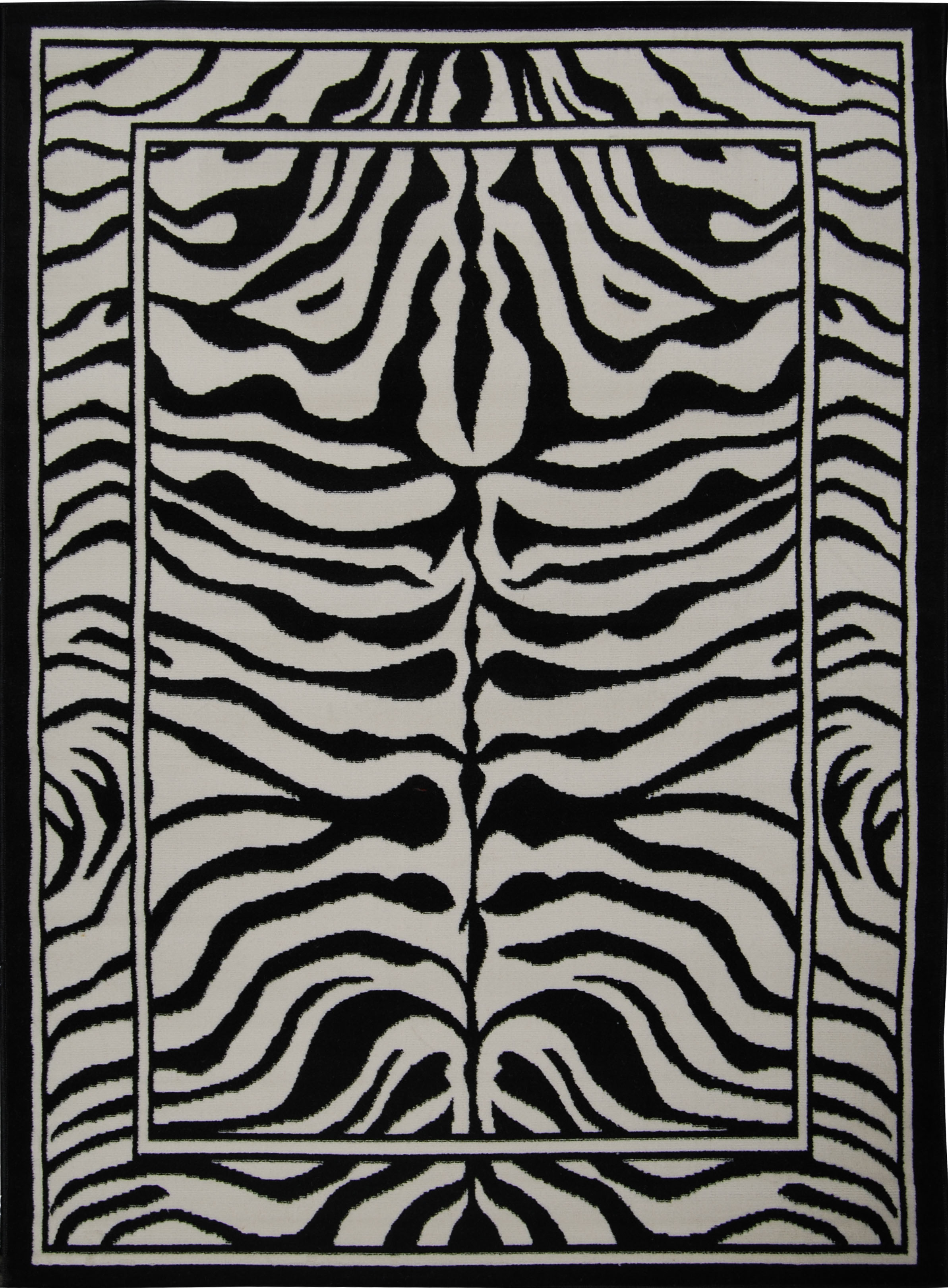 Animal Print Zebra Skin Area Rug Exotic Striped African