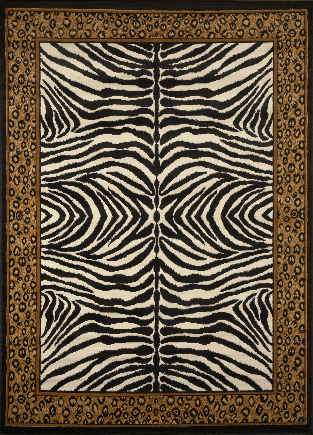 Modern Leopard Animal Print Area Rug 8x11 Zebra Safari