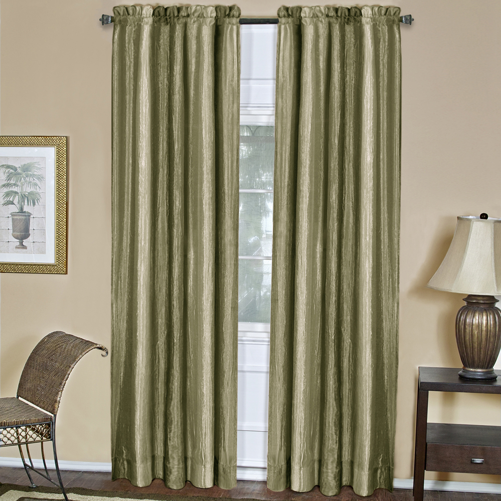Sage Striped Modern Semi-Sheer Light Filtering Window