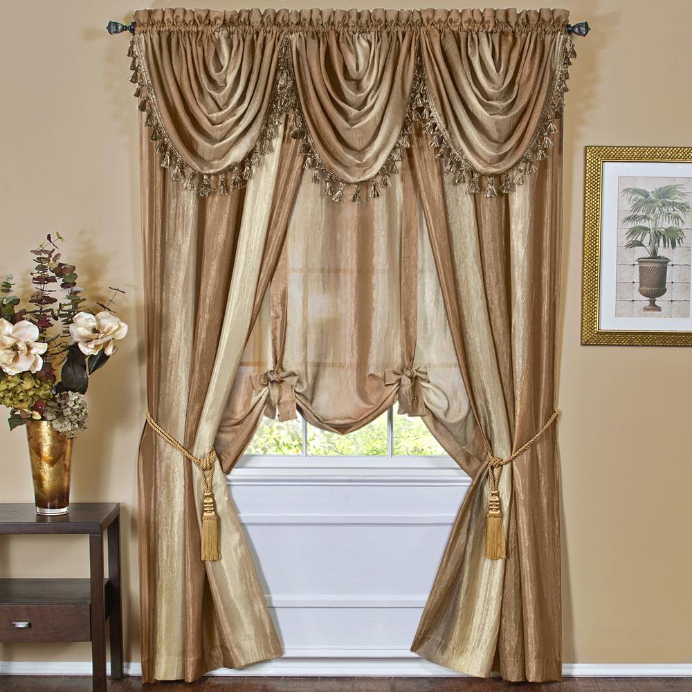 Multi Color Striped Modern Semi Sheer Window Curtain Drape