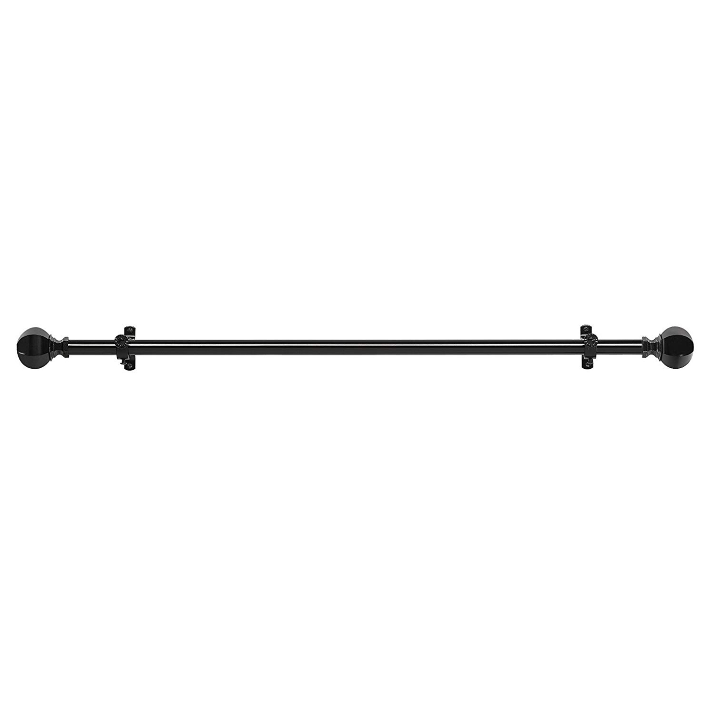 Curtain-Rod-Decorative-Telescopic-Cafe-Window-Drapery-Rods-Set-w-Modern-Finials thumbnail 15