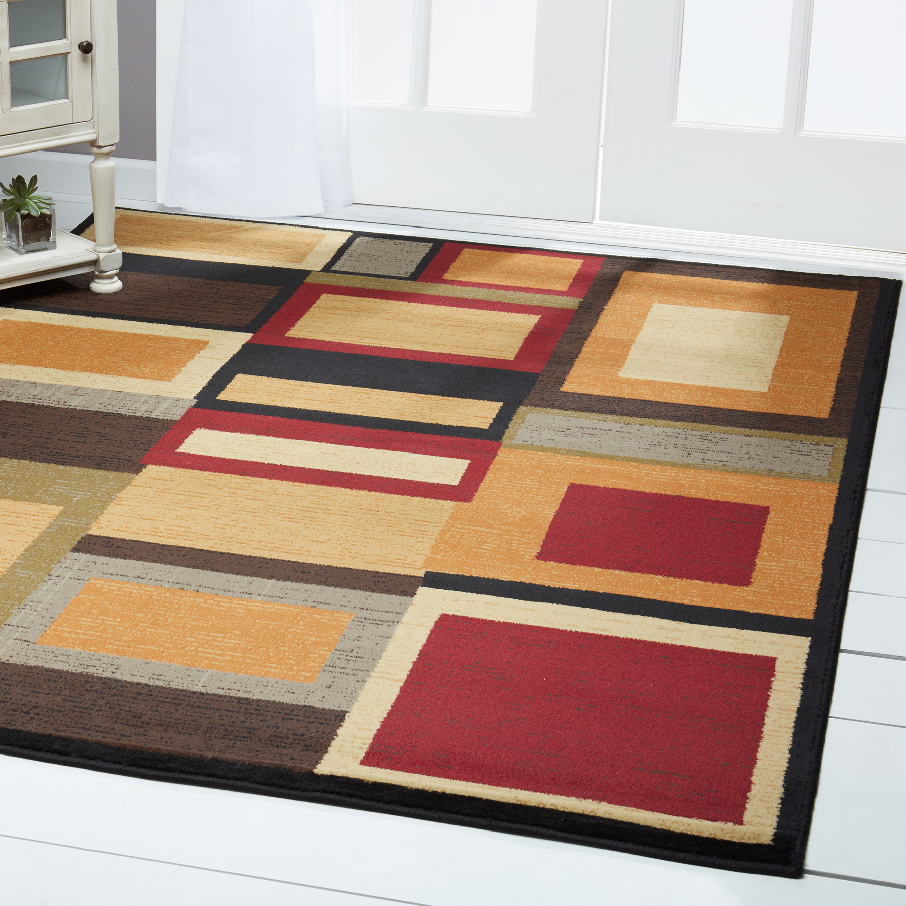 Details About Multi Contemporary Round Area Rug 3x3 Modern Geometric Carpet Actual 3 3 X3 3