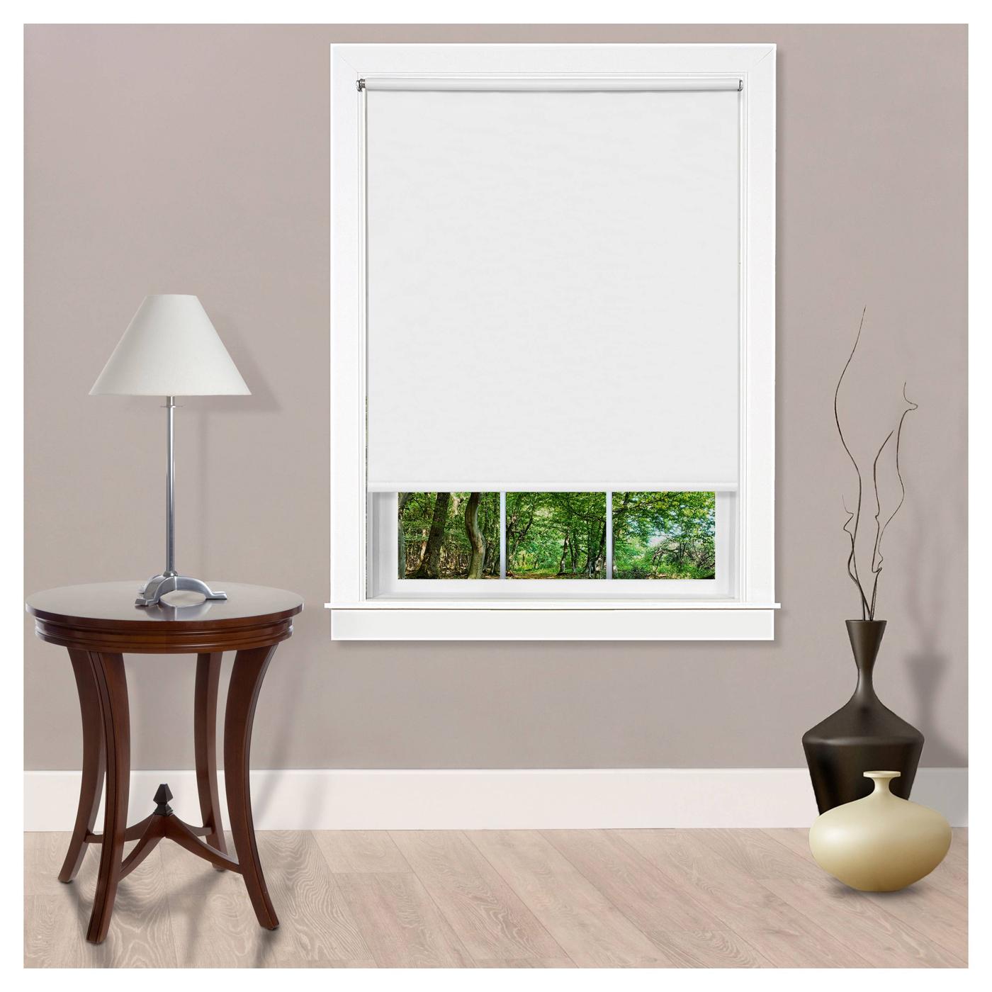 Light Filtering Room Darkening 8 Gauge Cordless Black Out Window Roller Shades Ebay