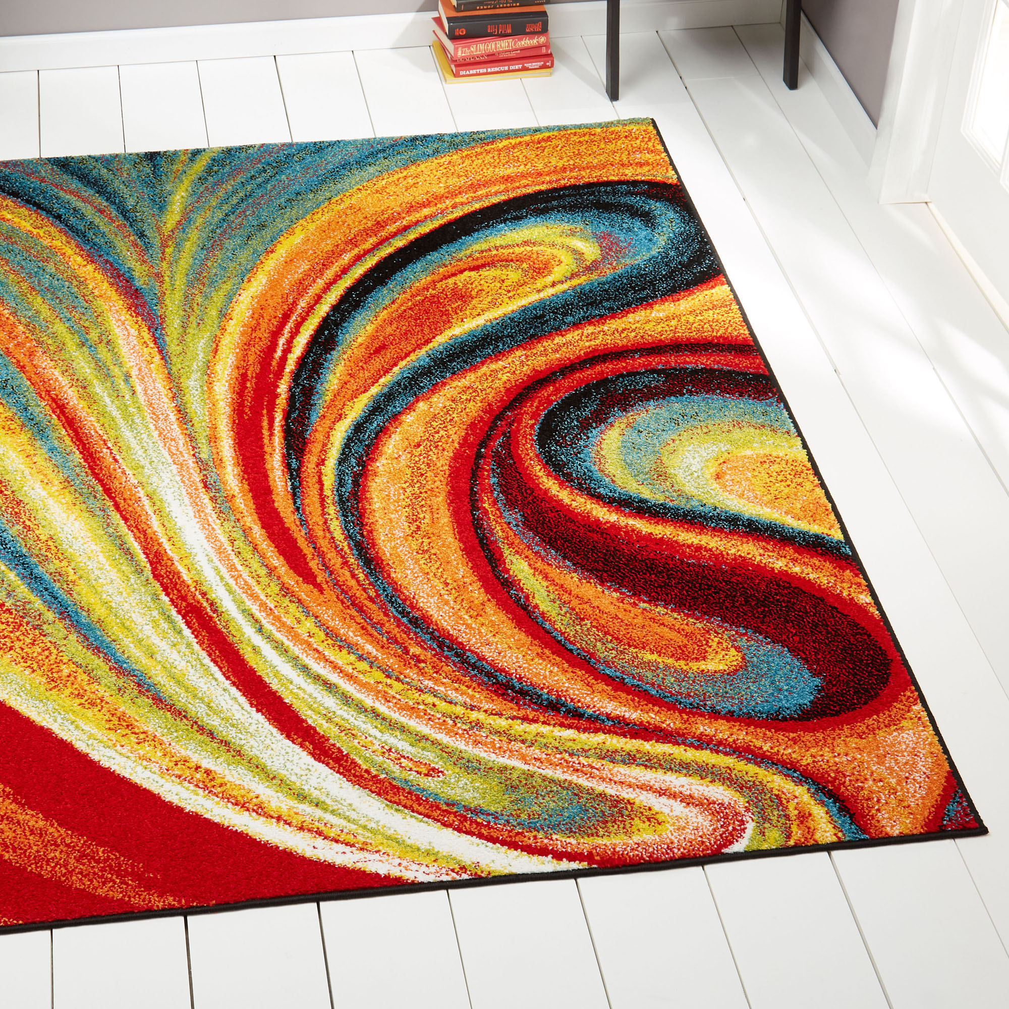 Modern Rug Contemporary Area Rugs Multi Geometric Swirls