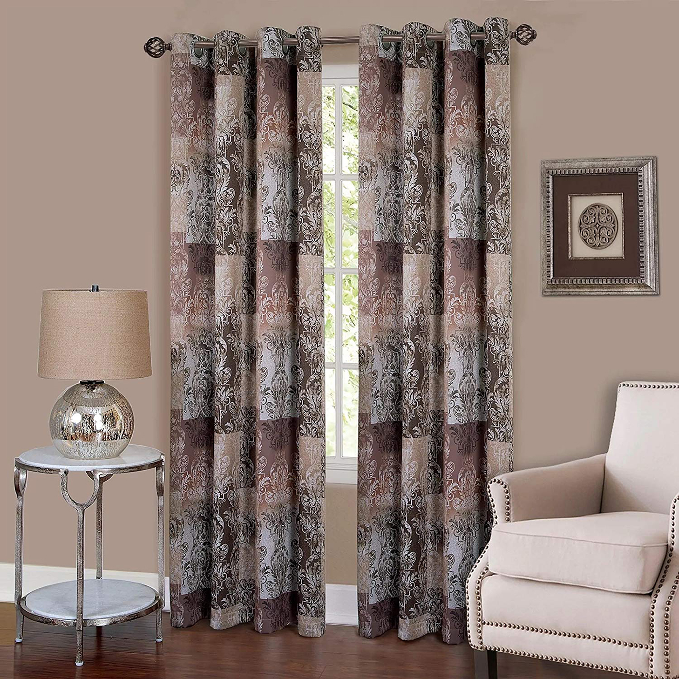 Curtain-Rod-Decorative-Telescopic-Cafe-Window-Drapery-Rods-Set-w-Modern-Finials thumbnail 21