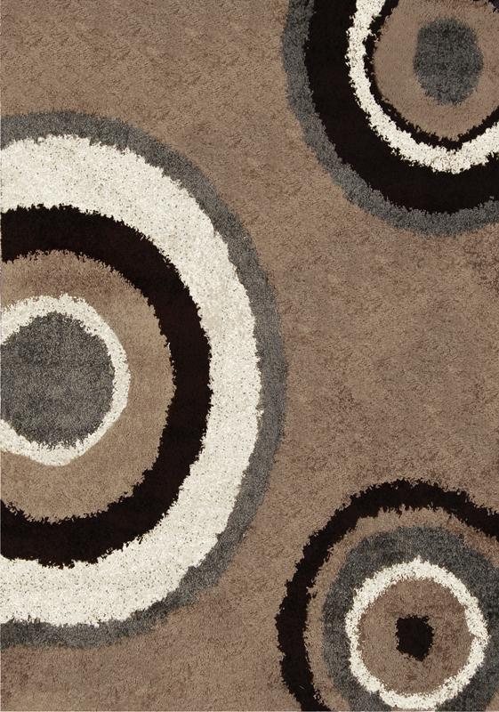 Modern Abstract Shag 7x10 Area Rug Contemporary Shaggy Carpet