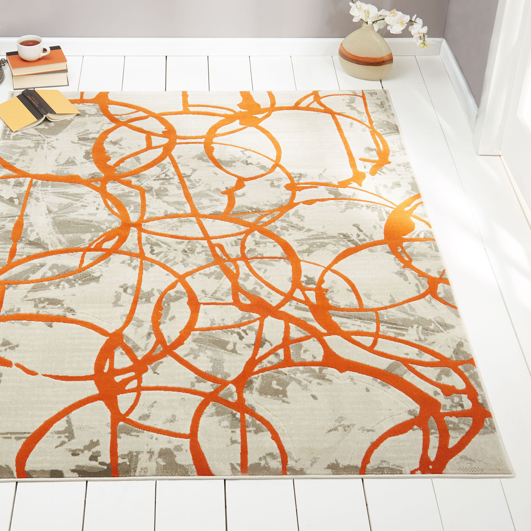 simplay grand product large rugs rug orange rust flower