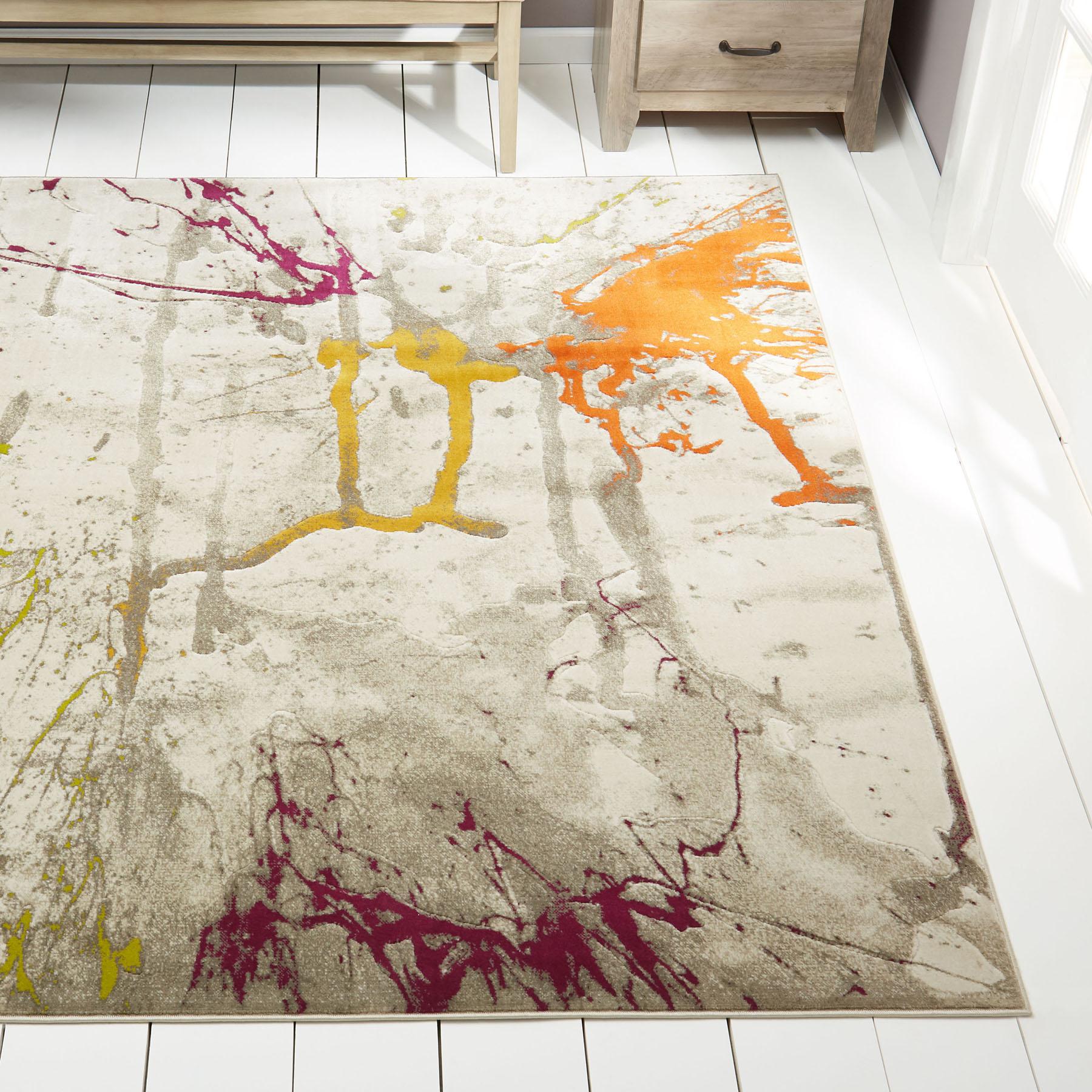 Rugs Multi Color Area Rug Abstract Paint Splatter Floor