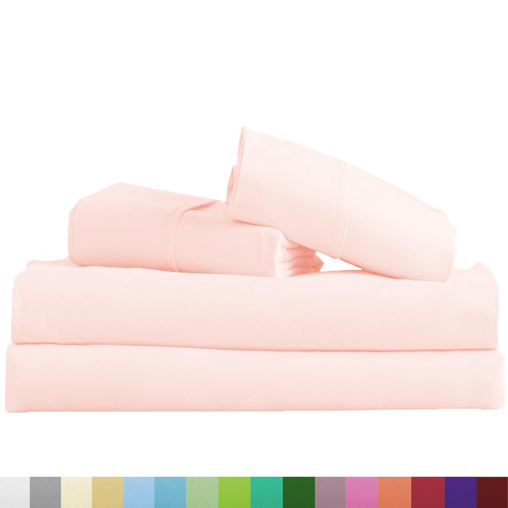 Supreme-Super-Soft-4-Piece-Bed-Sheet-Set-Deep-Pocket-Bedding-All-Colors-Sizes thumbnail 13
