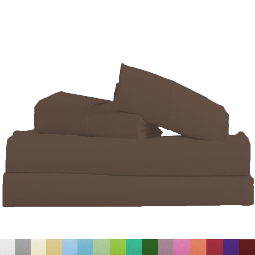 Supreme-Super-Soft-4-Piece-Bed-Sheet-Set-Deep-Pocket-Bedding-All-Colors-Sizes thumbnail 16