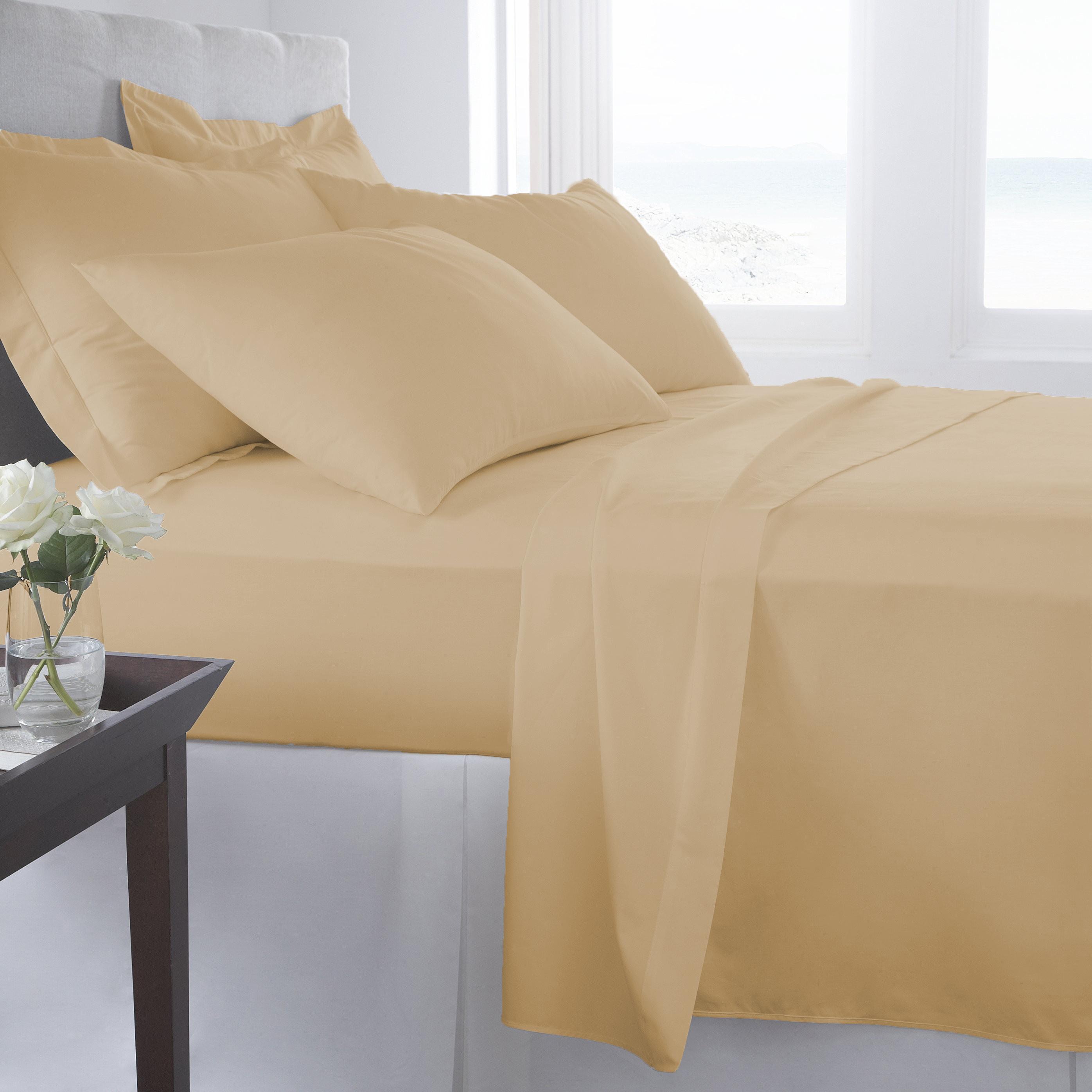 Supreme-Super-Soft-4-Piece-Bed-Sheet-Set-Deep-Pocket-Bedding-All-Colors-Sizes thumbnail 20