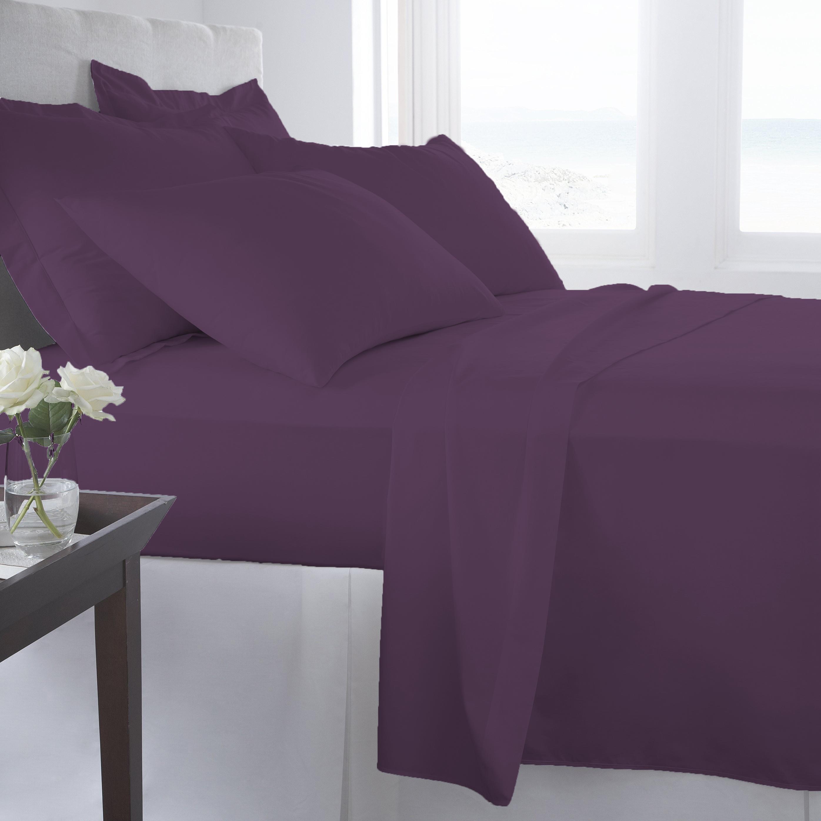 Supreme-Super-Soft-4-Piece-Bed-Sheet-Set-Deep-Pocket-Bedding-All-Colors-Sizes thumbnail 27