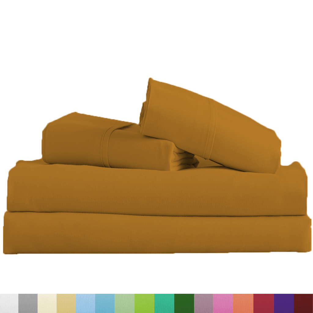 Supreme-Super-Soft-4-Piece-Bed-Sheet-Set-Deep-Pocket-Bedding-All-Colors-Sizes thumbnail 45
