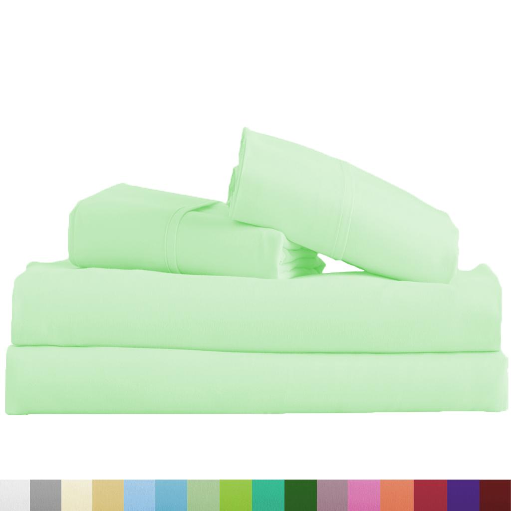 Supreme-Super-Soft-4-Piece-Bed-Sheet-Set-Deep-Pocket-Bedding-All-Colors-Sizes thumbnail 60