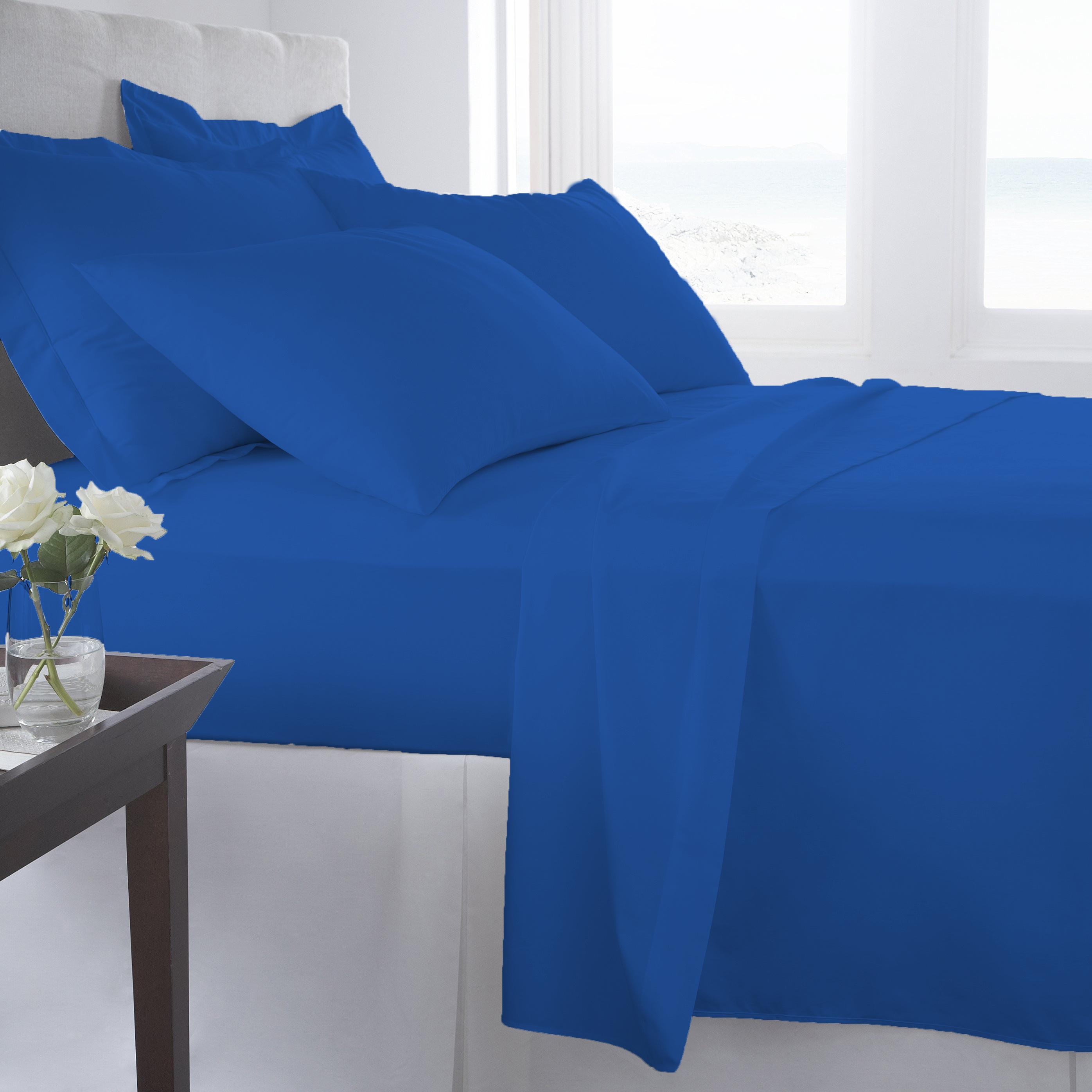 Supreme-Super-Soft-4-Piece-Bed-Sheet-Set-Deep-Pocket-Bedding-All-Colors-Sizes thumbnail 78