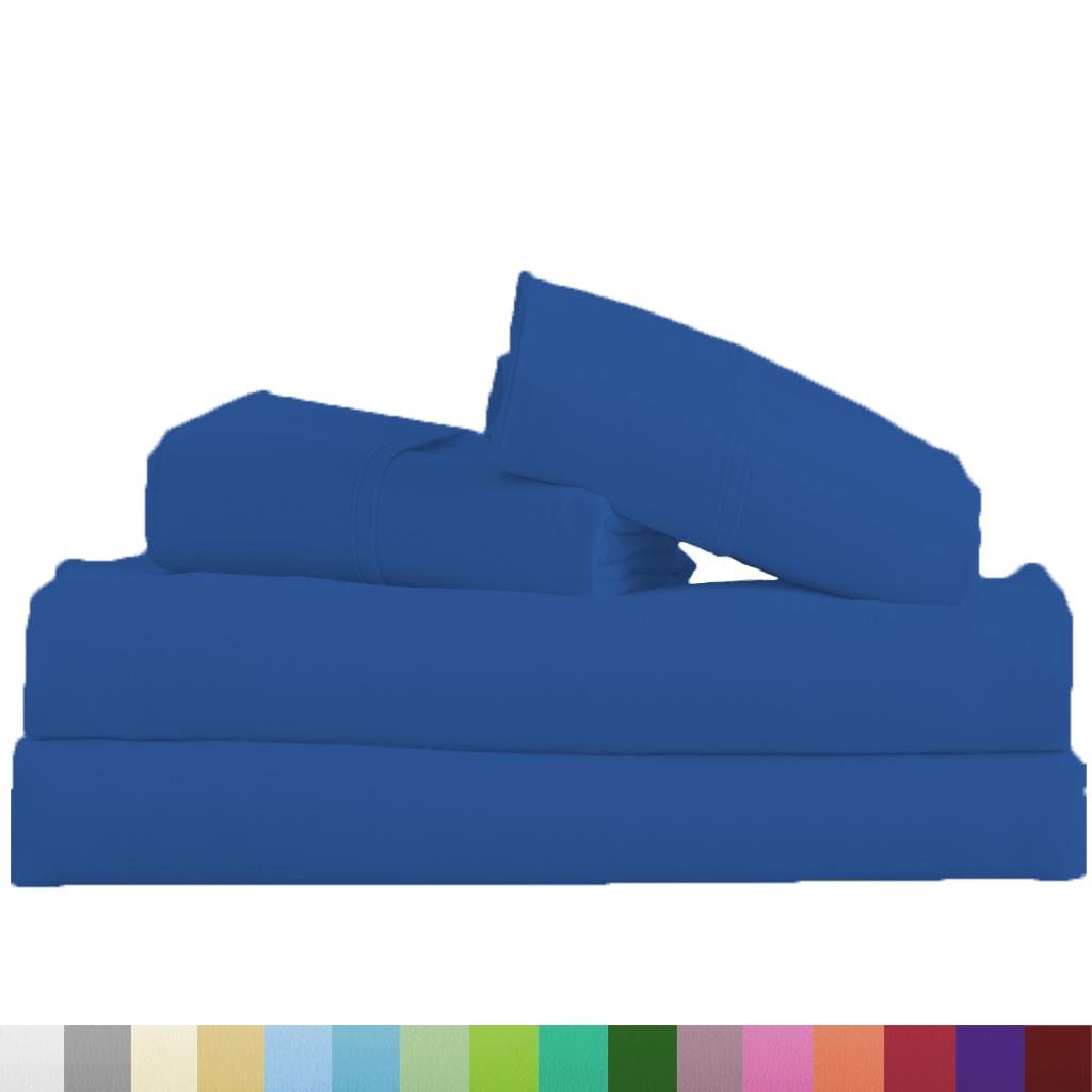 Supreme-Super-Soft-4-Piece-Bed-Sheet-Set-Deep-Pocket-Bedding-All-Colors-Sizes thumbnail 79