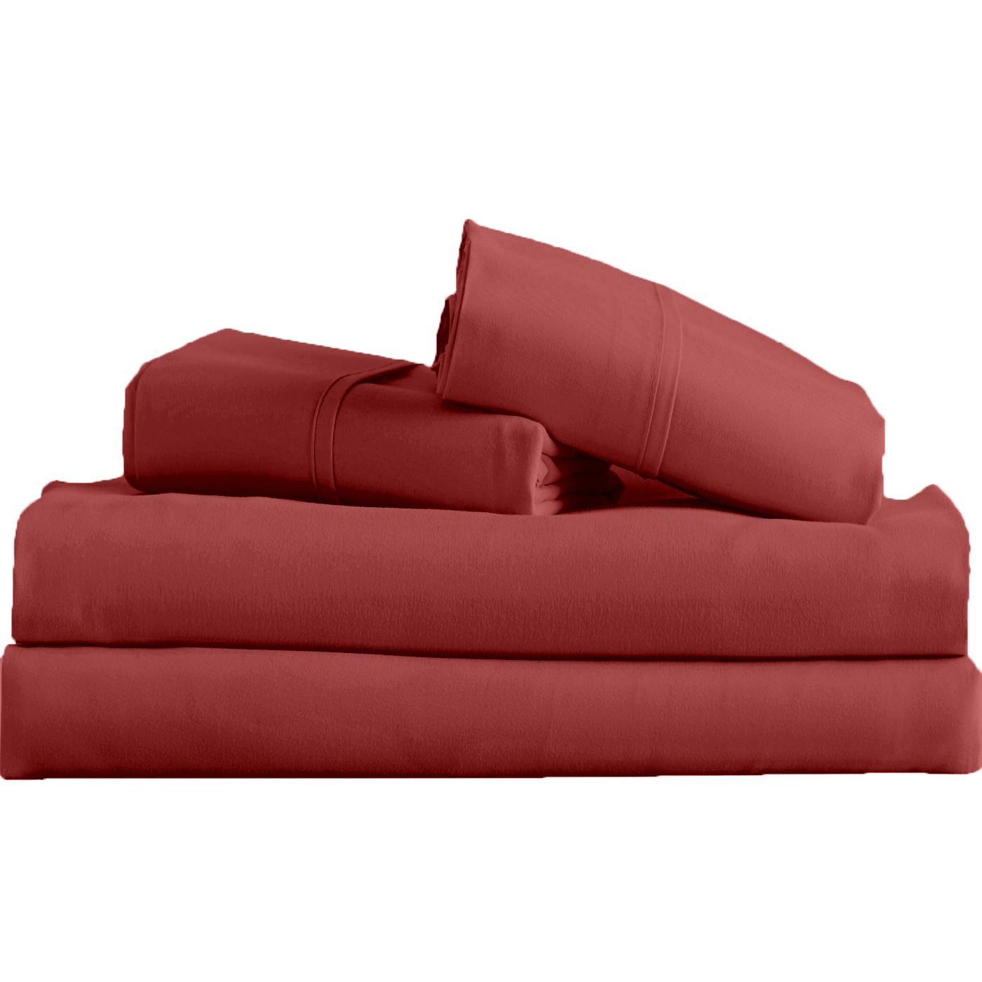 Supreme-Super-Soft-4-Piece-Bed-Sheet-Set-Deep-Pocket-Bedding-All-Colors-Sizes thumbnail 56
